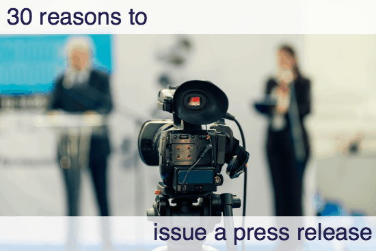reasons issue press release