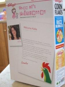 personalised Kelloggs Corn Flakes box