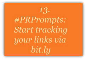 13. #PRPrompts