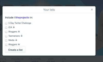 Add Remove Twitter List