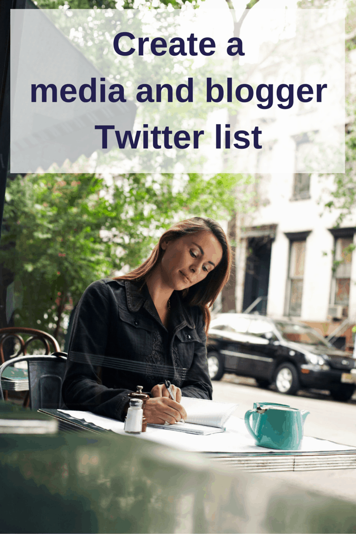 Create media blogger Twitter list