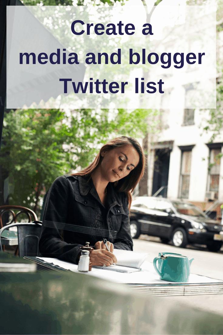 Create media blogger Twitter list