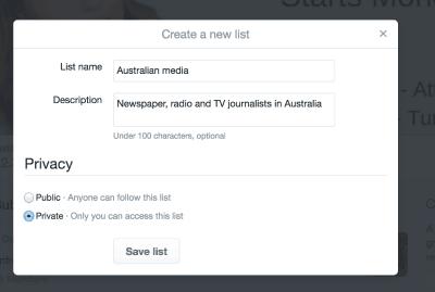 Name Twitter List