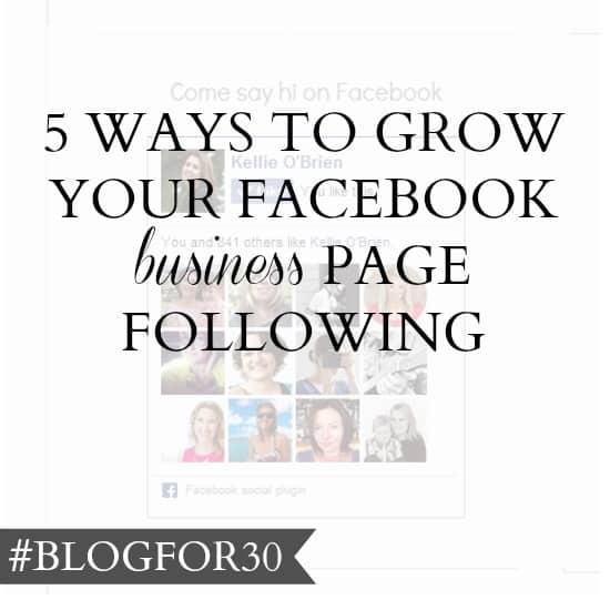 Grow your Facebook following