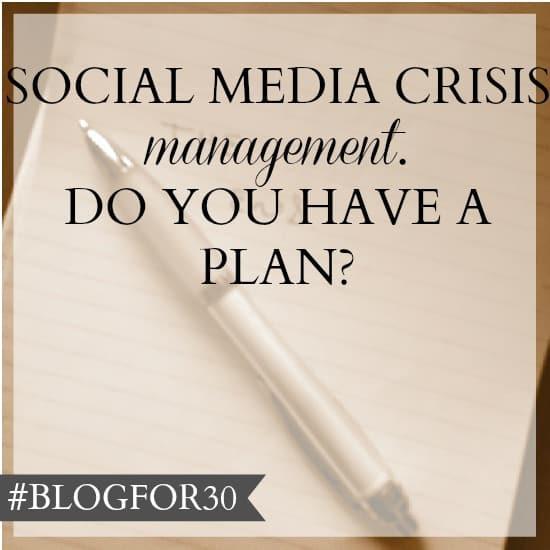 social media crisis management plan