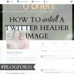 27. of #Blogfor30: How to install a Twitter header image