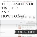 30. of #Blogfor30: The elements of Twitter and how to tweet