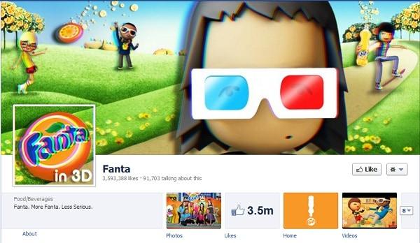 Fanta Facebook page