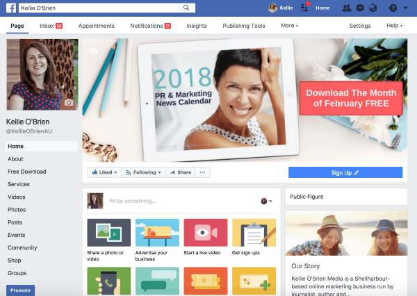 How to set up a Facebook page for your business or blog