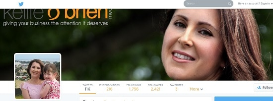 Kellie o'brien Twitter header