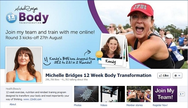 Michelle Bridges Facebook