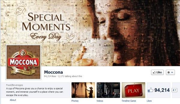 Moccona Facebook
