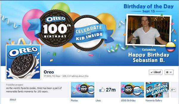 Oreo Facebook