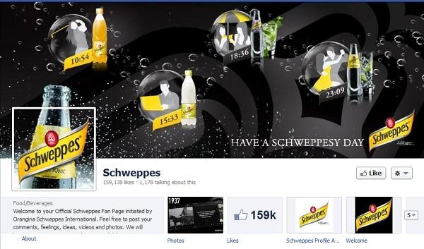 Schweppes Facebook