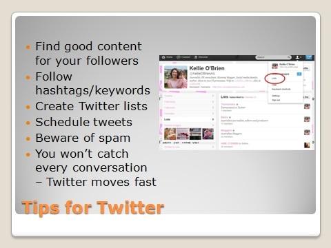 Tips for Twitter