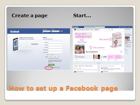 how to set up a private facebook page