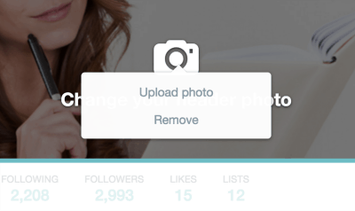 Twitter header upload icon