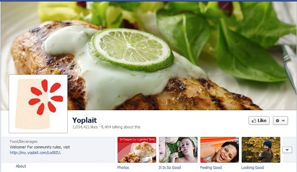 Yoplait Facebook