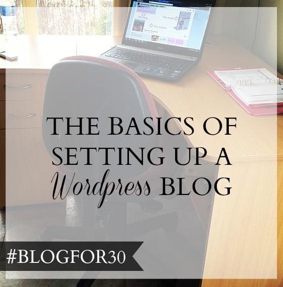 set up wordpress blog