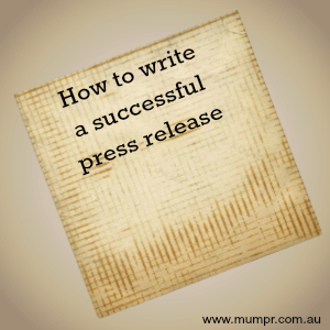 how to write a successful press release
