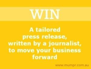 win a press release