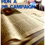 how to run a pr campaign