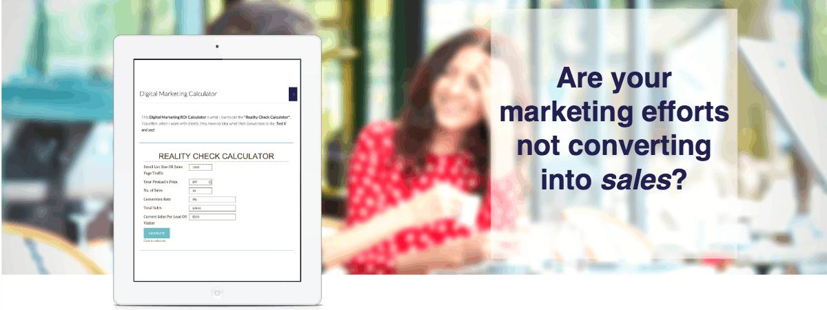 Online digital marketing calculator
