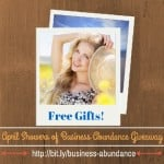 April Showers of Business Abundance Giveaway