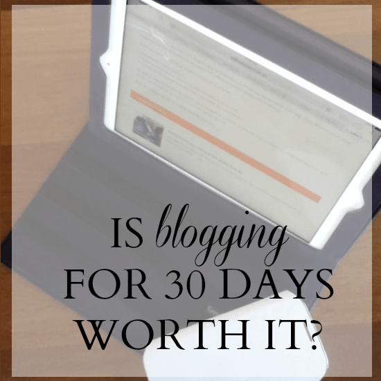blog 30 days