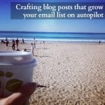 Crafting blog posts that grow your email list by 20+ daily on autopilot