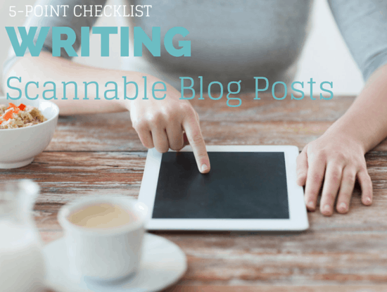 scannable blog posts