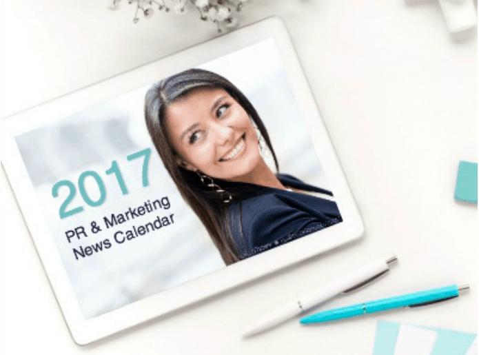 2017 PR Marketing Calendar Shop