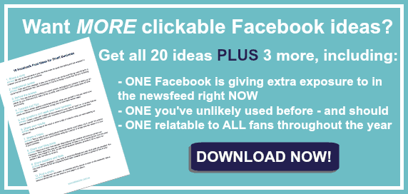 19 clickable Facebook post ideas for small business | Kellie O ...