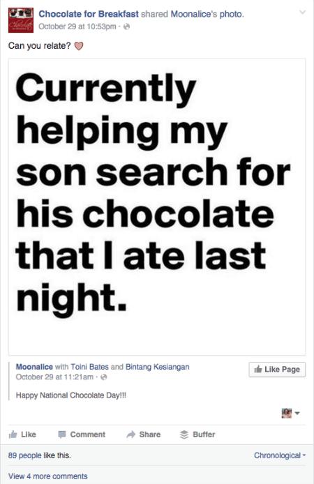 Facebook comedy