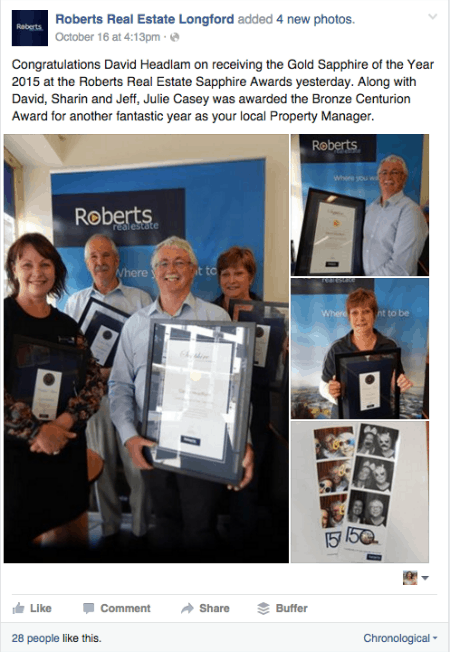 Roberts Real Estate Facebook