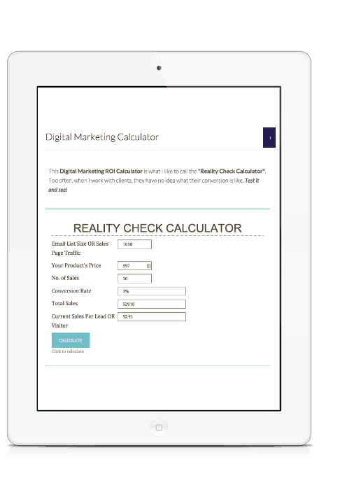 Digital marketing calculator mock
