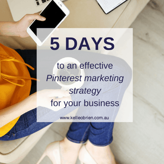 5 Days Pinterest Marketing Strategy Business