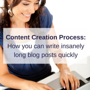 write long blog posts quickly