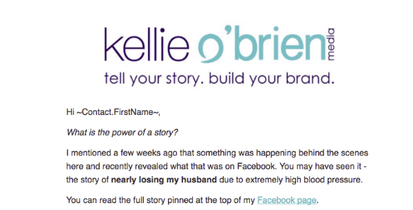 email storytelling