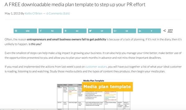 media plan template opt-in