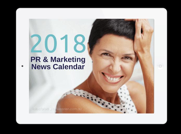 2018 PR Marketing News Calendar