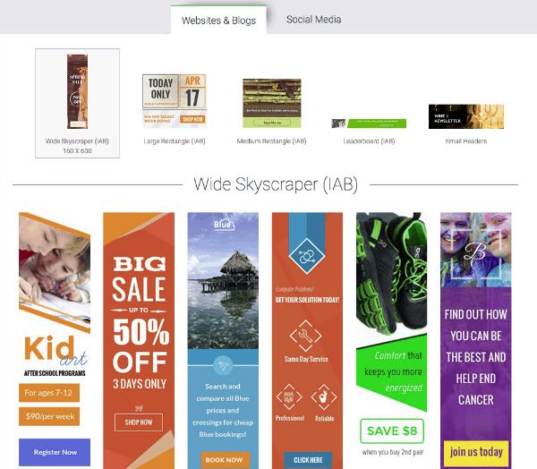 Visme Website Banner Templates