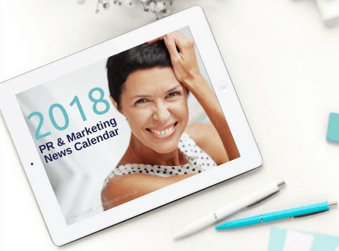 2018 PR Marketing Calendar Download