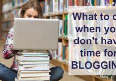 No time blogging