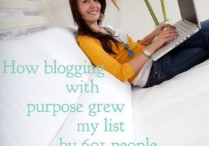 grow your list blogging
